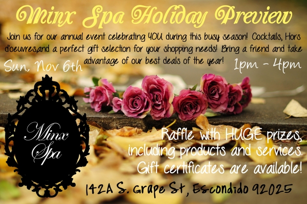 Minx Spa Holiday Flier