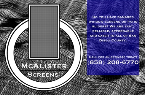 McAlister Screens Car Door Magnet