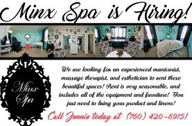 Minx Spa Booth Rental Flier