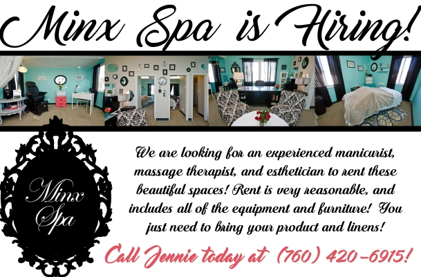 Minx Spa Booth Rental Flier