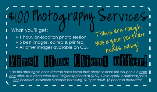 Melissa Oglesby Photography Biz Card BACK - Valid Coupon!