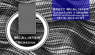 McAlister Screens Biz Card FRONT