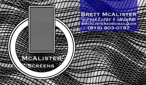 McAlister Screens Biz Card FRONT