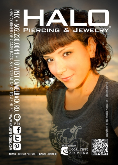 Halo Piercing & Jewlery Ad - Photo by Melissa O.