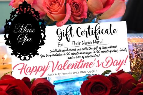Minx Spa Valentines Day Flier