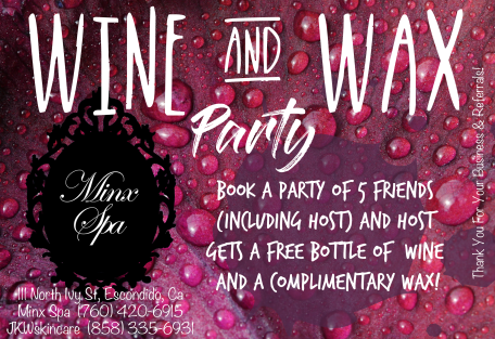 2018 Wine & Wax Party Flier